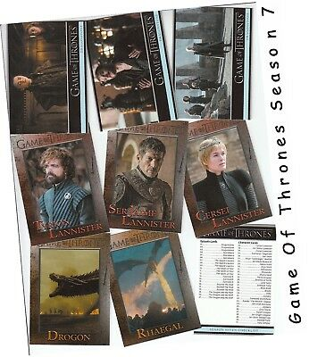Game Of Thrones Season 7 (Seven) - 81 Card Basic/Base Set - Rittenhouse 2018
