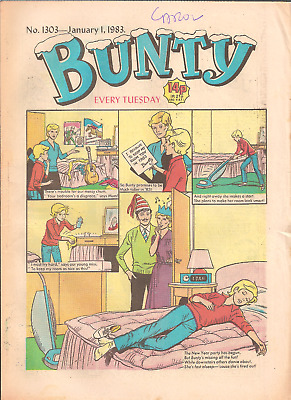 BUNTY No.1303,JAN.1,1983 D.C.THOMSON PUBLICATION with BUNTY'S CUT-OUT WARDROBE