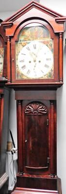 8 day mahogany cased striking longcase clock