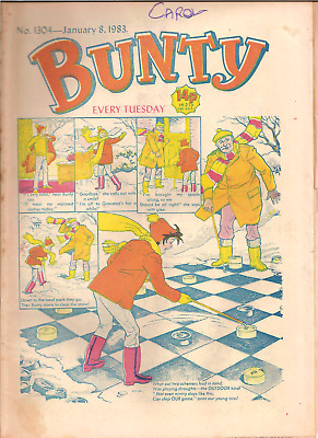 BUNTY No.1304,JAN.8,1983 D.C.THOMSON PUBLICATION with BUNTY'S CUT-OUT WARDROBE