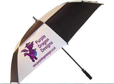 15 Personalised Golf Umbrella promotional merchandise  storm proof vented panels