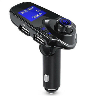 T11 Car Hands-free Wireless Bluetooth FM Transmitter LCD MP3 Player USB Charger