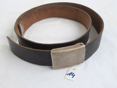 Leder Koppel Bundeswehr Gürtel german leather belt + belt buckle # 14  90cm