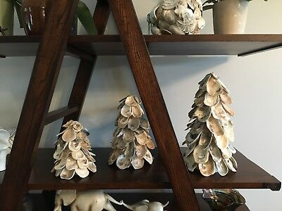 Oyster Shell Tree, Sz LARGE, Decoration, Holiday, Accent, Centerpiece, Christmas