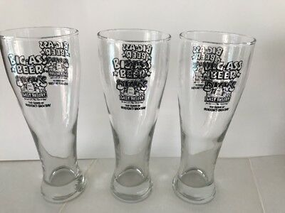 Dick's Last Resort Big Ass Beer Glass San Diego Set of 3 Excellent