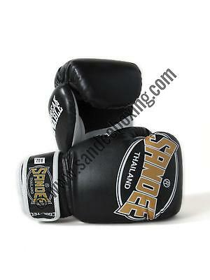 Sandee Cool-Tec Velcro Black, Gold & White Synthetic Leather Kids Boxing Gloves
