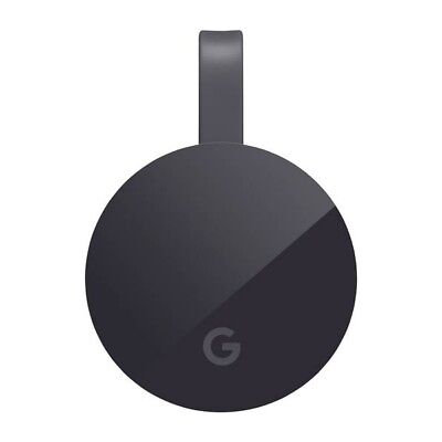 Google Chromecast Ultra Schwarz 4K UHD Streaming Media Player HDMI WLAN