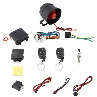 1 Car Vehicle Burglar Protection System Alarm Security+2 Remote Control SANS