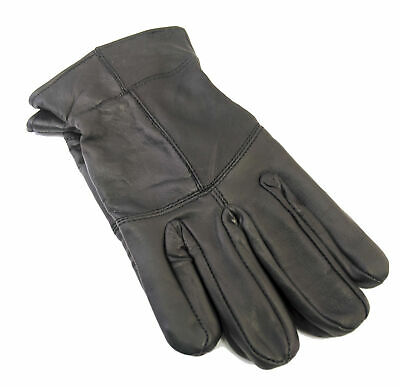 Men's Black Leather Thinsulate Lined Gloves