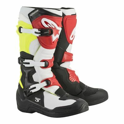 Alpinestars Tech 3 Off Road Motorcycle MX Boots - Black/Yellow/Red