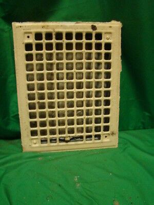 ANTIQUE 1920'S IRON HEATING GRATE SQUARE DESIGN 14 X 11 jndf