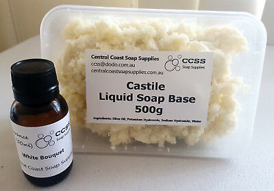 500g Natural Castile Liquid Soap Base PLUS Fragrance Oil of YOUR CHOICE