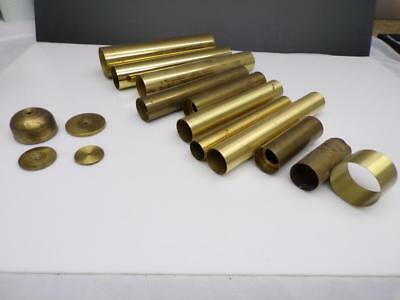 Lot of Various Sizes Grandfather Clock Brass Movement Weight Shells  F187
