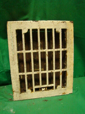 Vintage 1920S Cast Iron Heating Grate Rectangular Design 11.75 X 9.75