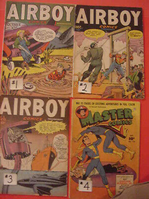 Plastic Man, Airboy, Master, Marvel Family, Crack, Smash Comics, See Info