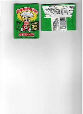 1986 TOPPS GARBAGE PAIL KIDS  ALL NEW 3rd  SERIES WAX PACK UNOPENED
