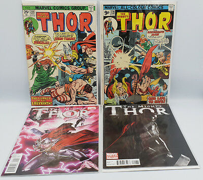The Marvel Universe : The Mighty Thor #235, #236, #1, #2 Comics (Ccb)