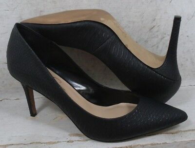 04b66dbca549 JESSICA SIMPSON WOMENS Levin Black Snake Embossed Heels Pumps Shoes size 10  M -  18.99