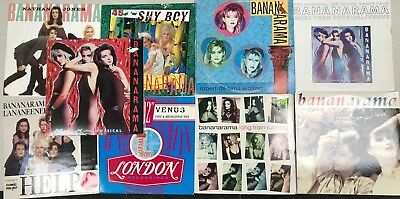 Bananarama  LOT OF 9 (LPS) SINGLES  VERY GOOD CONDITION 12 inch 45 rpm