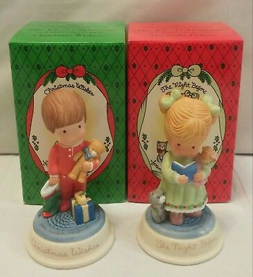 2 Vintage 1987 Avon The Joy of Christmas Joan Walsh Anglund Collection Figurines