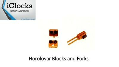 Horolovar Anniversary Clock Small Top/Bottom Blocks,Forks Pack of 3, UK Seller