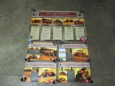 Set of 5 Case IH Tractor Dealership Posters Advertising