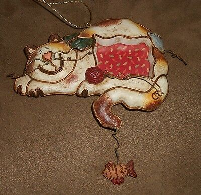 Sleeping Cat Picture Frame Ornament