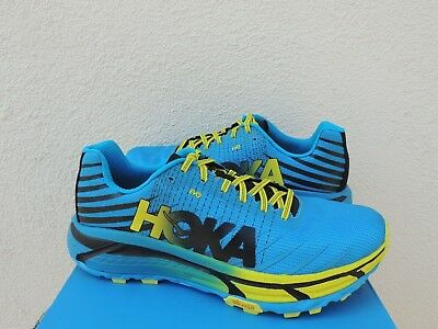 cheaper a6b06 4fd7f HOKA ONE ONE Evo Mafate Cyan Citrus Trail Running Shoes, Us 12/ Eur 46 2/3  ~Nib