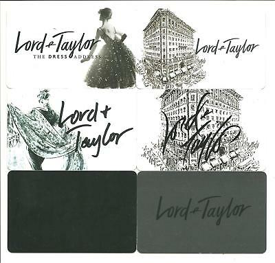 Lot (6) Lord & Taylor Gift Cards No $ Value Collectible Women Buildings