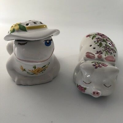 Vintage Avon Animal Collection;  Frog Pot Pouri & Pig Pomander. Excellent Used