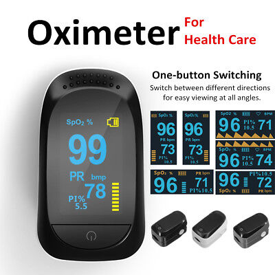 AU Finger Pulse Oximeter OLED Blood Oxygen Meter SPO2 Pulse Heart Rate Monitor