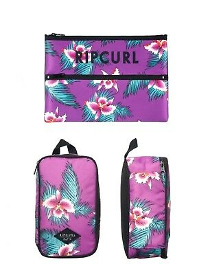 Bnwt Rip Curl Girls Kids Lunchbox & Double Neoprene Pencil Case Christmas Gift