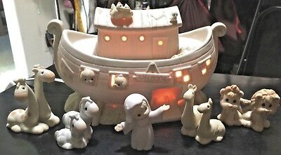 "Vintage  Precious Moments  Collection    "" Noah's Ark ""    Light Up    1992"