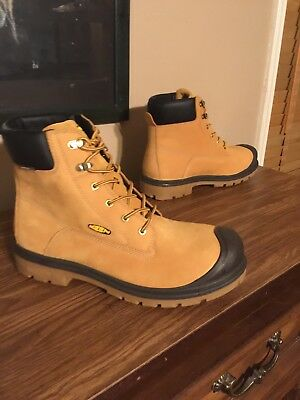 "Mens Keen Utility Footwear Baltimore 6"" Wp Steel Toe Work Boot Size 12 Wheat"