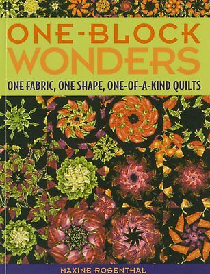 Quilt Pattern Book ~ ONE-BLOCK WONDERS ~ by Maxine Rosenthal