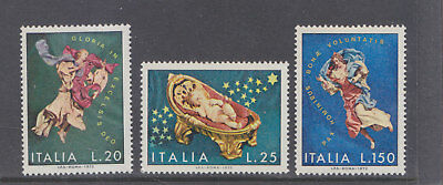 ITALY-1972-CHRISTMAS STAMP SET-MUH-SG329-31-$4-freepost