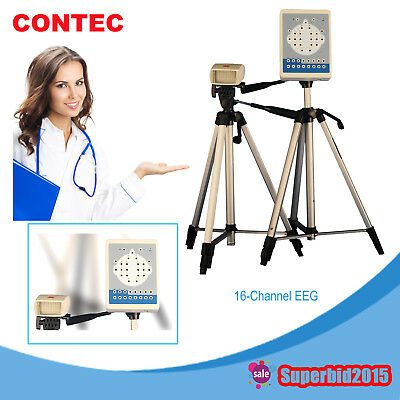 CE Contec KT88 16-Channel Digital EEG Machine Mapping System PC Software Tripods