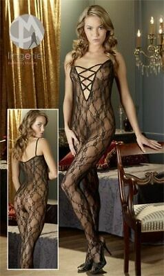 Mandy Mystery lingerie Catsuit ouvert schwarz S/M Overall Anzug Body Bekleidung