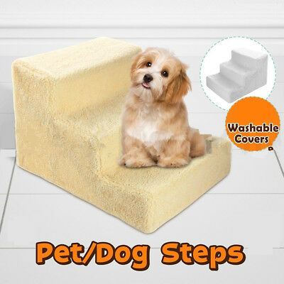 Portable Dog Steps 3 Steps Pet Stairs Small Dogs Cats Ramp Ladder For High Bed