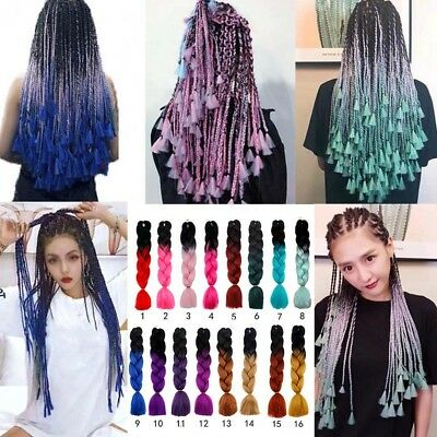 Ombre Kanekalon Jumbo Braiding Synthetic Hair Extension African Twist Braid 24''