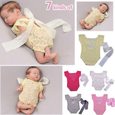 7B8A Baby Shooting Clothes Funny Lace Newborn Baby Photography Costume Posing