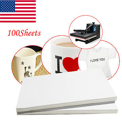 US 100Sheet A4 Dye Sublimation Heat Transfer Paper,for Polyester Cotton T- Shirt