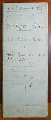 1866 Lease between RalphTaylor to George Scott East Field Farm Sunderland