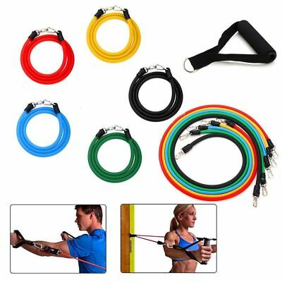 11in1 Training Gymnastikband Fitnessbänder Widerstand Bänder Set Yoga Latex DE