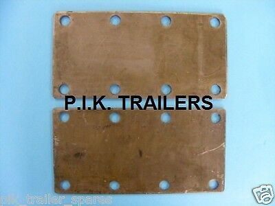 2 x 8 Hole Trailer Suspension Unit Heavy Duty Mounting Plates 750kg - 1500kg