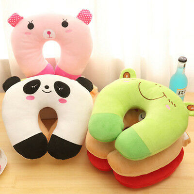 1x Soft Cartoon U-shaped Neck Pillow Child Head Neck Support Cushion Toy Travel