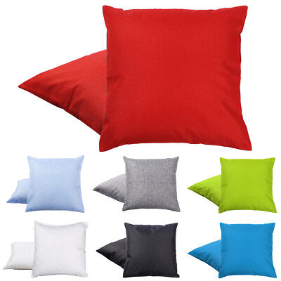 1PC Assorted Size Colour Cushion Cover Plain 100% Polyester Sofa Bed Chair
