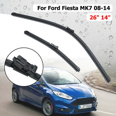 26'' 14'' Front Windscreen Wiper Blade For Ford Fiesta V MK7 2008 On Push Button