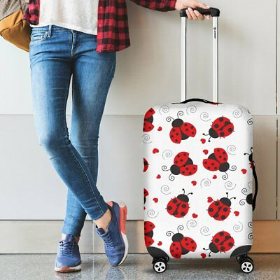 Ladybug Love Luggage Suitcase Fabric Cover Protector (Luggage not included)