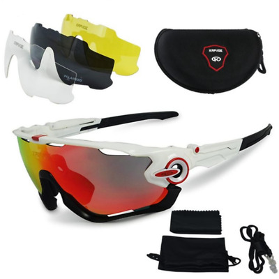11a01161fd 4 Pair Lens Cycling Outdoor Ciclismo Sports Flight Jacket Polarized  Sunglasses